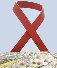 Weltaidstag: Aids-Schleife