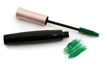 Cosmetics: green mascara