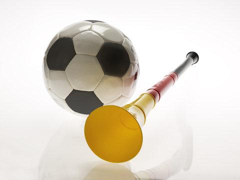 Vuvuzela mit Fußball zur WM 2010