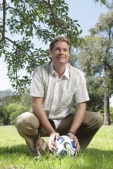 Man holding a ball