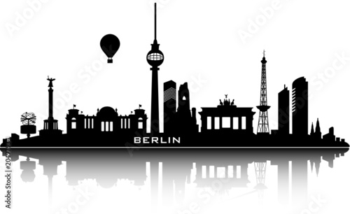 berlin skyline top details stockfotos und lizenzfreie vektoren auf bild 20497934. Black Bedroom Furniture Sets. Home Design Ideas