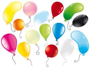 Vector multicolor balloons