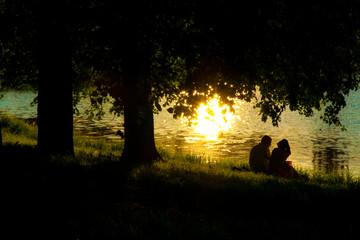 Beloved pair near the lake