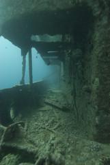 Starboard side walkway SS Thistlegorm