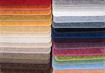Color samples of carpet