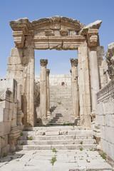 Ruinas romanas en la ciudad de Jerash (Jordania)