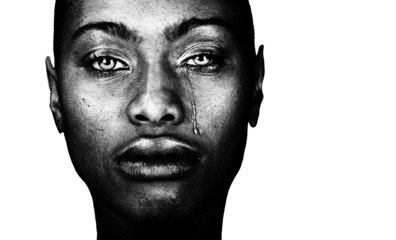 Black Woman Crying