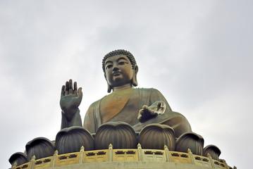 Hong Kong Tian Tan Buddha statue in Lantau  island