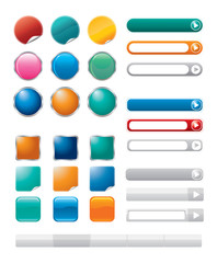 Vector buttons for internet