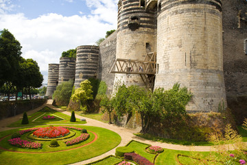 Angers Chateau and garden. France