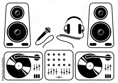 u0026quot dj equipment icons u0026quot  stock image and royalty