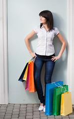 beauty woman om shopping