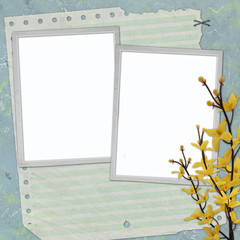 picture-frames on abstract background