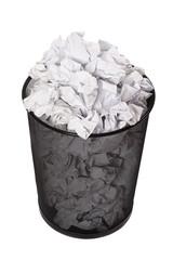 Papierkorb überfüllt