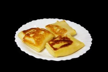 Pancake with caviar