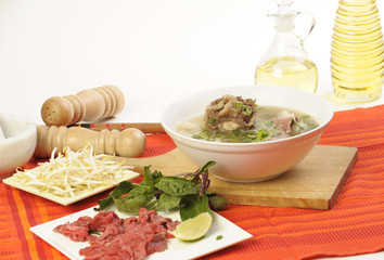 Vietnamese food oxtail pho