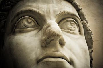Fototapeta Head of emperor Constantine, Capitol, Rome obraz