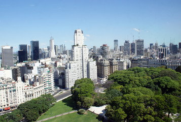 Aerial view of downtown Buenos Aires