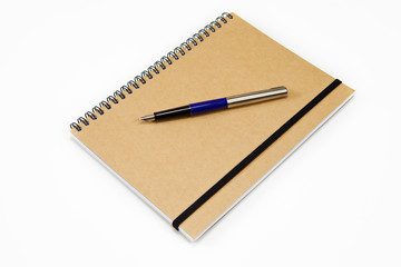 Brown Spiral Notebook With Fountain Pen