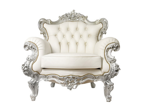 Luxurious Armchair isolated on white