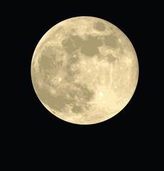 full moon, realistic vector