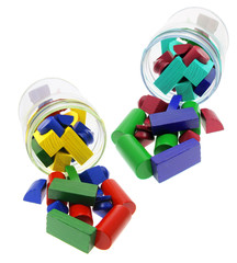 Building Blocks and Glass Jars