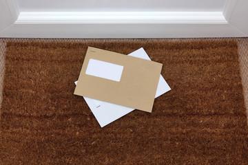 Envelopes on the doormat