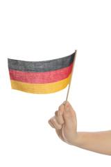 Deutsches Fähnchen schwenken