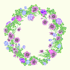 garland of flowers for design, vector