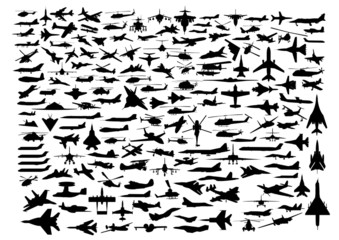 Aircrafts isolated on white