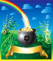 Spoed Foto op Canvas Regenboog St. Patrick's Day Rainbow 2