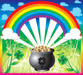 Spoed Foto op Canvas Regenboog St. Patrick's Day Rainbow