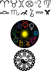 astronomy symbols illustration