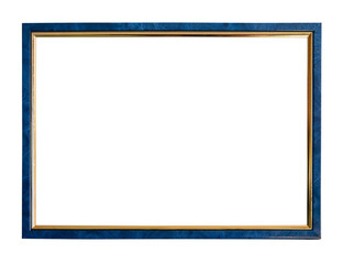 thin blue picture frame