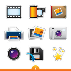 Icon sticker series 7 - photography