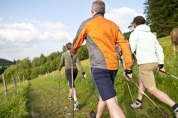 Fototapete - Nordic Walking