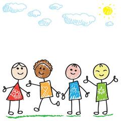 Funny doodle kids