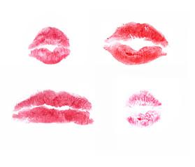 pink kisses mark - set