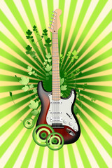 Electro- guitar on an abstract background