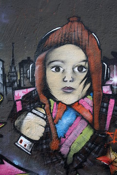 tag,graffiti,jeune,fille,drogue