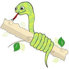 Snake twisting branch