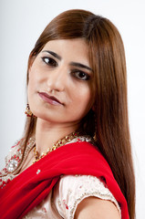 Lovely woman in traditional Indian dress