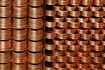 Cents-gestapelt