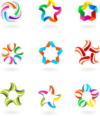 Set of abstract icons and logos - 3