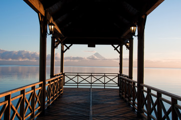 Pier at Llanquihue lake