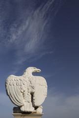 One of the Eagle statues at the Bahai Gardens at Haifa, Israel