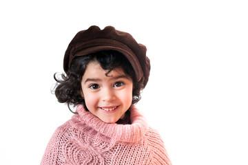 Portrait fille avec chapeau