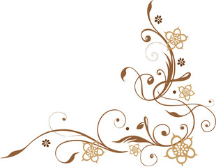 Blumen, Blüten, Ranke, floral, filigran