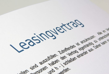 Leasingvertrag 1
