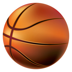 Isolated basketball ball on white